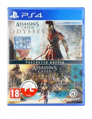 Assassins Creed Odyssey Origins Dwie Gry Wloska Ps4 Przod Logo