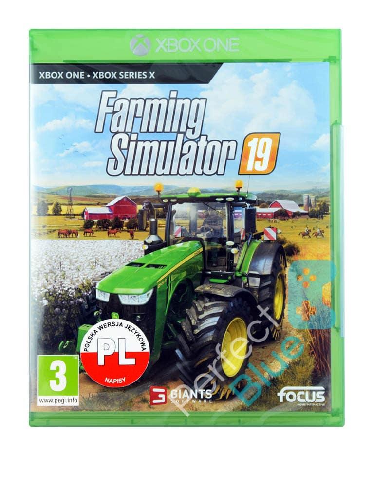 Farming Simulator 19 Gra Xbox One Przod Logo
