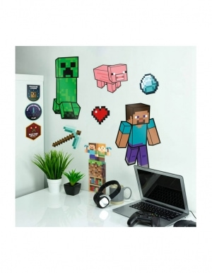 Naklejki Scienne Minecraft Wall Decals 3