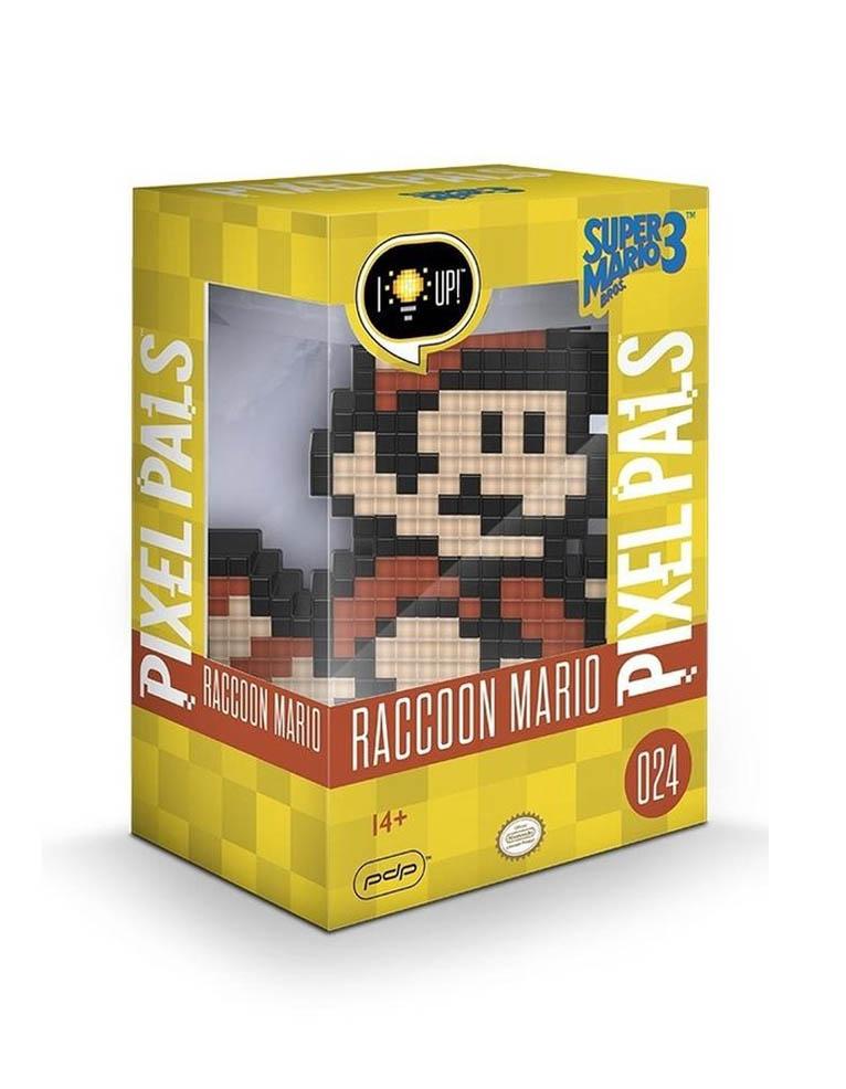 Gadżet Lampka / Figurka Pixel Pals - Nintendo - Raccoon Mario 024
