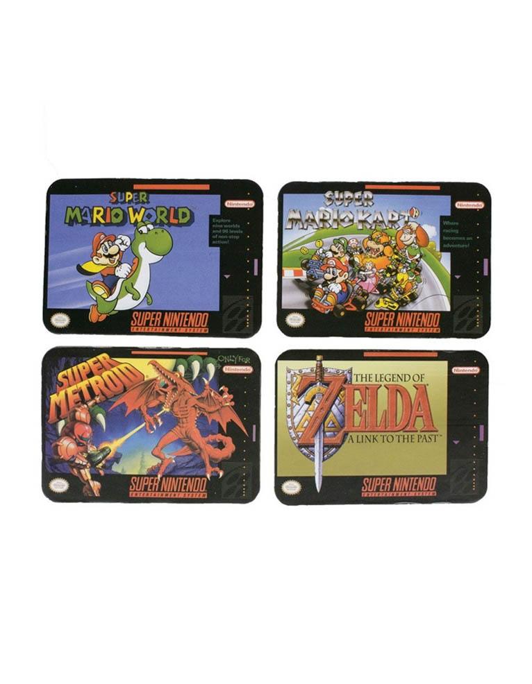 Podkladki Pod Kubek Zelda Super Mario Super Metroid Snes Nintendo