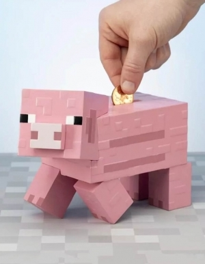 Skarbonka Minecraft Pink Pig Money Bank Paladone 2