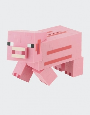 Skarbonka Minecraft Pink Pig Money Bank Paladone 3