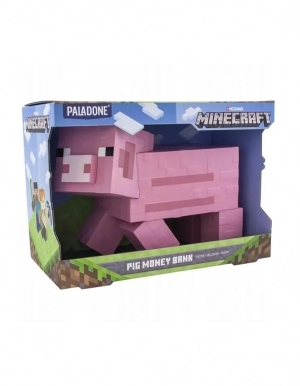 Skarbonka Minecraft Pink Pig Money Bank Paladone