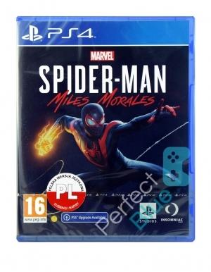 Spider Man Marvel Miles Morales Gra Ps4 Ps5 Przod Logo