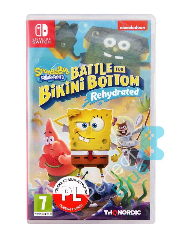 Spongebob Squarepants Battle For Bikini Bottom Rehydrated Gra Nintendo Switch Przod Logo
