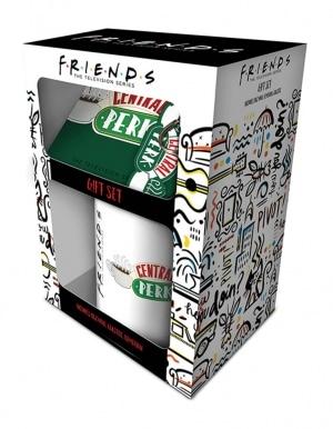 Zestaw Kubek Podkladka Brelok Friends Przyjaciele Gift Set 2