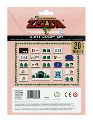 Zestaw Magnesow The Legend Of Zelda 8 Bit 20 Magnets 2