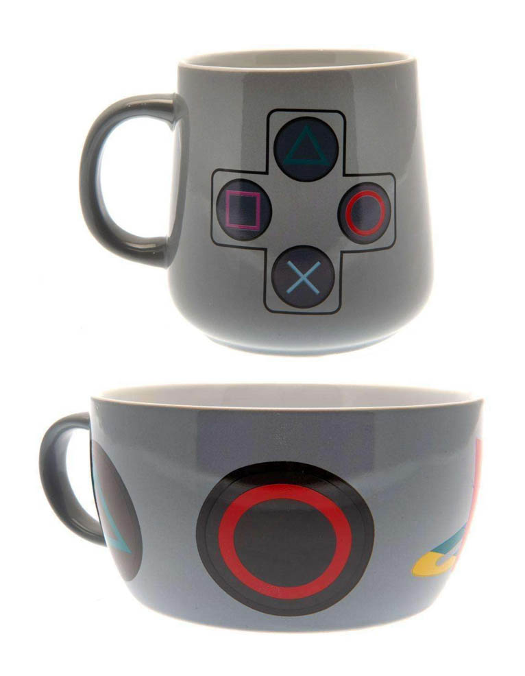 Zestaw Sniadaniowy Sony Playstation Kubek Miska Breakfast Set 2