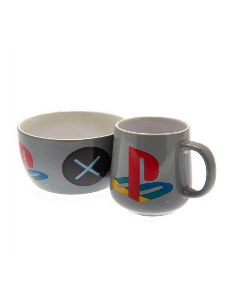 Zestaw Sniadaniowy Sony Playstation Kubek Miska Breakfast Set
