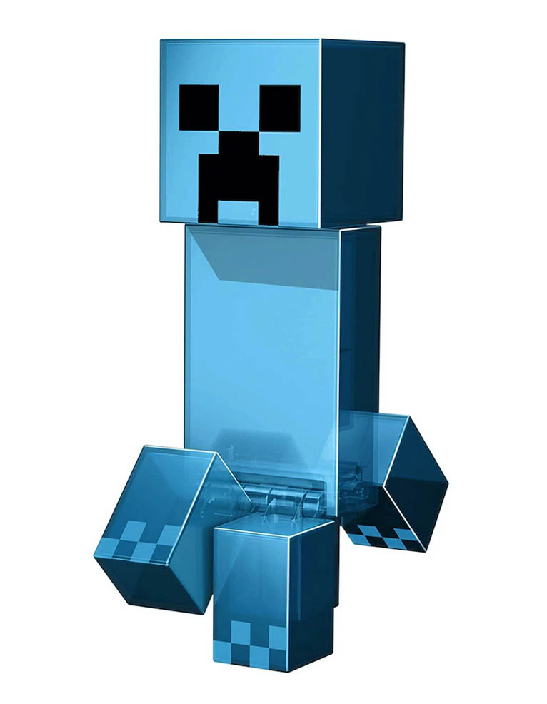 Niebieski Blue Creeper Figure Action Minecraft