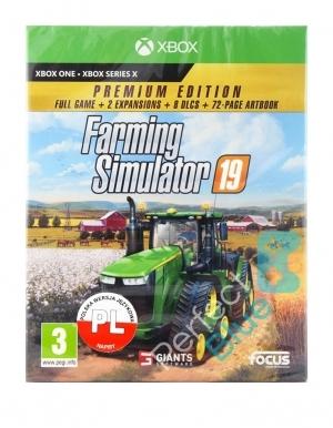Farming Simulator 19 Premium Edition Gra Xbox One Przod Logo