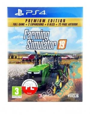Farming Simulator 19 Premium Edition Gra Ps4 Przod Logo