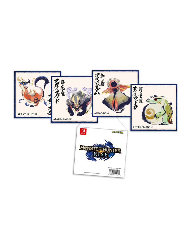 Monster Hunter Rise Gra Nintendo Switch Karty Kolekcjonerskie