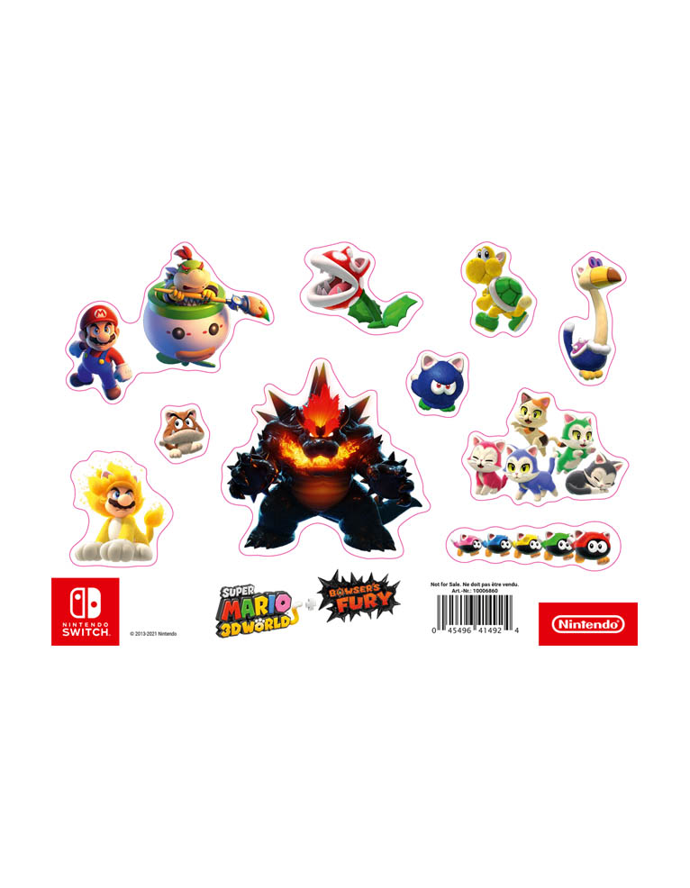 Super Mario 3d World Bowsers Fury Gra Nintendo Switch Naklejki