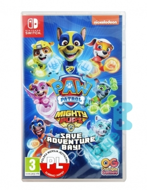 Psi Parol Mighty Pups Kosmopieski Ratuja Zatoke Przygod Gra Nintendo Switch Przod Logo