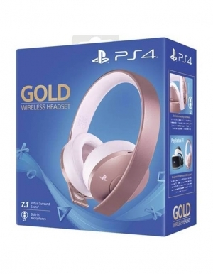 Sluchawki Wireless Gold Rose Rozowe Ps4