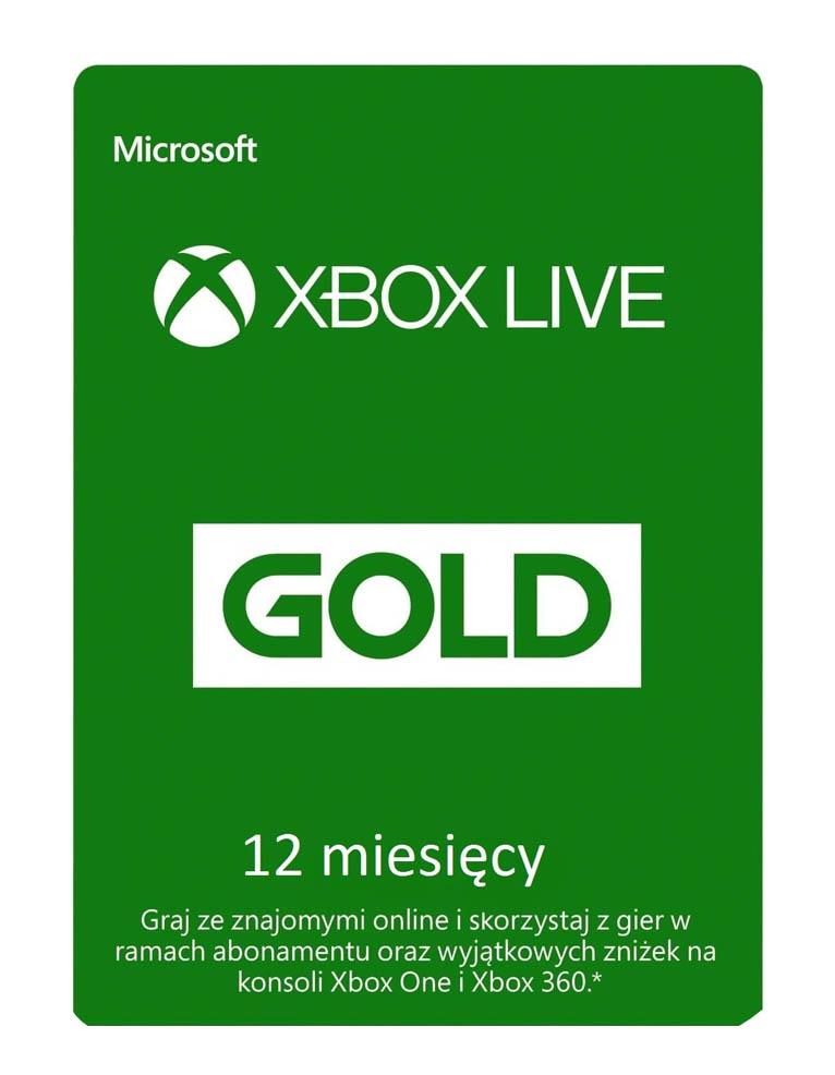 Xbox Live Gold 12 Miesiecy