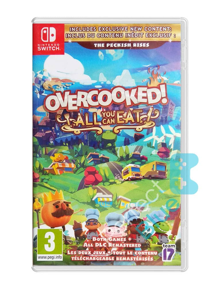 overcooked all you can eat gra nintendo switch przod logo