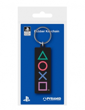 gumowy brelok logo playstation rubber keychain