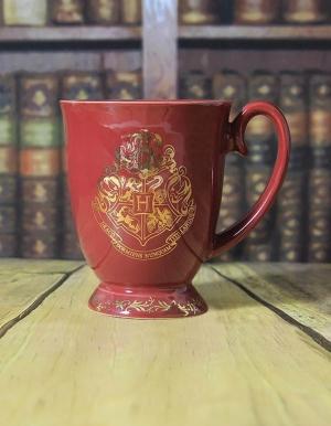 kubek harry potter logo hogwarts czerwony 2