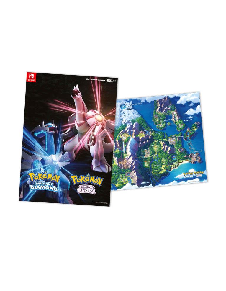 pokemon brilliant diamond gra nintendo switch plakat