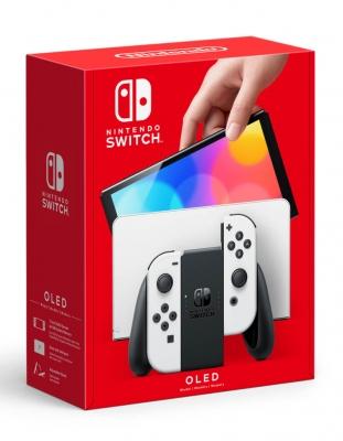 konsola nintendo switch oled biala white 10