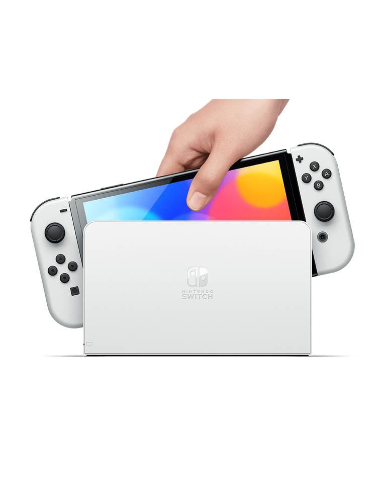konsola nintendo switch oled biala white 3