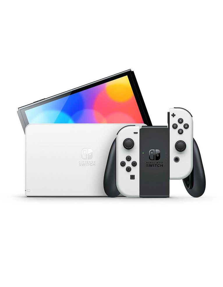 konsola nintendo switch oled biala white 6