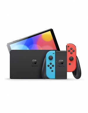 konsola nintendo switch oled red blue neon 2