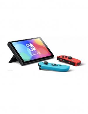 konsola nintendo switch oled red blue neon 3
