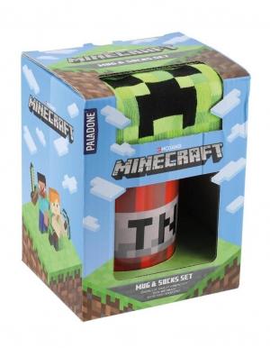 gadzet kubek oraz skarpetki minecraft tnt creeper 2