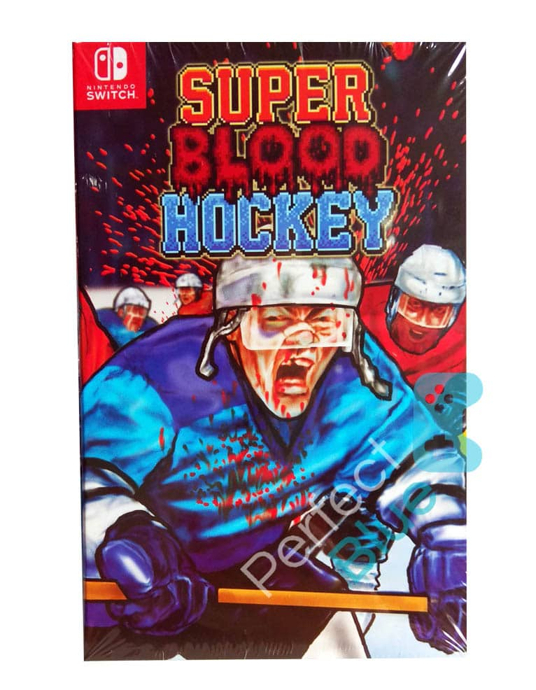 super blood hockey gra nintendo switch przod logo