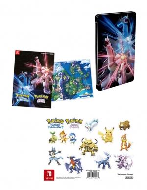 pokemon brilliant diamond gra nintendo switch plakat naklejki steelbook