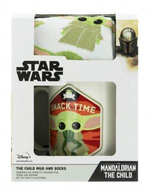 zestaw prezentowy star wars gwiezdne wojny kubek skarpetki mandalorian baby yoda